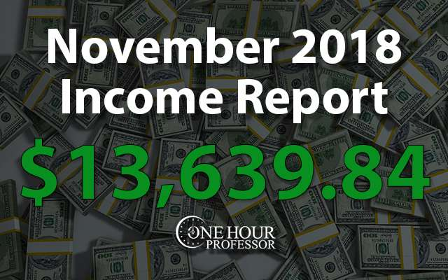 November 2018 Monthly Income Report