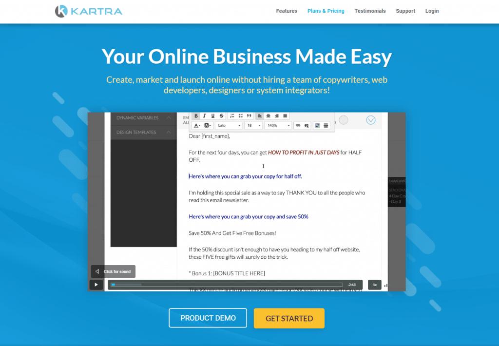 Online Course Platform - Kartra