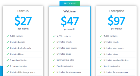 Pricing Page - Systeme.io